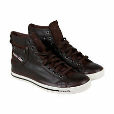 Diesel Exposure I Mens Brown Leather High Top Lace Up Sneakers Shoes