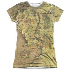 The Lord of the Rings Middle Earth Map Juniors Sublimation Shirt