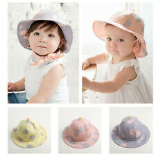Baby Cute Summer Spring Shipping Caps Toddler Dot Pattern Cotton Sunscreen Hats