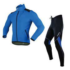 Sobike Fleece Thermal Winter Cycling Suits Jacket with Fleece Tights