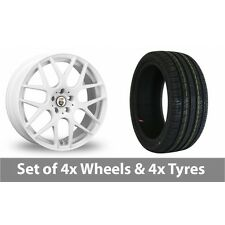 "4 x 18"" Cades Bern White Alloy Wheel Rims and Tyres -  245/45/18"