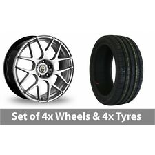 "4 x 18"" Cades Bern Hyper Silver Alloy Wheel Rims and Tyres -  225/45/18"