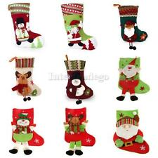 1x Christmas Stocking Xmas Tree Hanger Decor Sock Hanging Gift Xmas Present Sack
