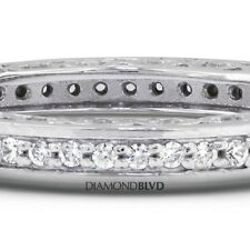 0.68ctw G/SI1/Ex Cut Round Earth Mined Diamonds 14k Vintage Anniversary Band 5gr