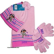 Girls/Younger Girls  'DORA'  Bobble Hat Gloves & Scarf 3 piece Set    3 to 8 yrs