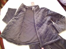 Gymboree FALL FOREST FRIENDS Velour Pants & Quilted Jacket Set Gray NWT 6 7 8 9