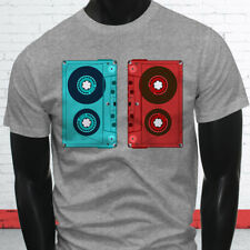3D CASSETTE TAPE RETRO HIP HOP MIX TAPE RAP 90S Mens Gray T-Shirt