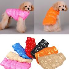 Pet Dog Puppy Warm Winter Padded Coat Down Jacket Jumpsuit Vest Clothes Apparel