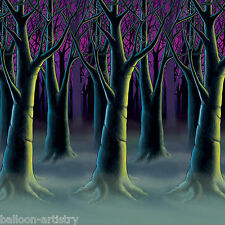 Spooky Halloween Scene Setter Room Roll SPOOKY TREES Wall Backdrop Decoration