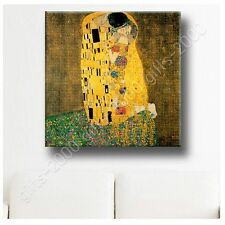Synthetic CANVAS +GIFT The Kiss Gustav Klimt Posters Giclee Pictures Wall Art