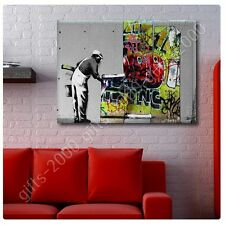 Synthetic CANVAS +GIFT Banksy Vs Robbo Banksy Posters Wall Art Painting