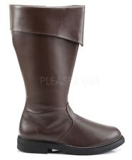 Funtasma Pirate Captain Cosplay Cuffed Boots Brown 8 9 10 11 12 13 14