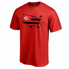 Cincinnati Reds Red Broad Stripes T-Shirt