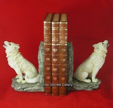 Wolf statue ebay - Dire wolf bookends ...