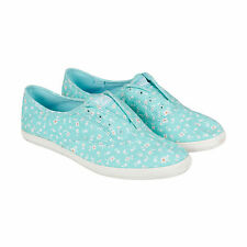 Keds Chillax Clover Womens Blue Textile Lace Up Sneakers Shoes