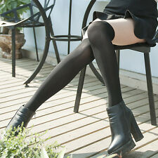 Sexy Women Thigh High Stockings Solid Colors Hold Up Stockings Over The Knee UK