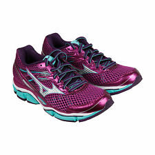 Mizuno Wave Enigma Womens Blue Mesh Athletic Lace Up Running Shoes
