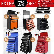 14 Drawers Mechanic Tool Box Storage Toolbox Cabinet Chest Castor Trolley Roller
