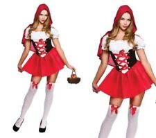 Little Red Riding Hood Fairytale Book Week Ladies Fancy Dress Outfit Size 6/20