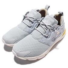 Reebok Furylite  CLSHX Grey Yellow Mens Casual Shoes Sneakers Trainers AR1321