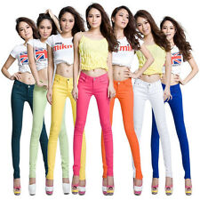 Women's Stretch Candy Pencil Pants Casual Slim Fit Skinny Jeans Trousers 15Color