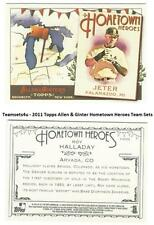 2011 Topps Allen & Ginter Hometown Heroes Baseball Sets ** Pick Your Team Set **