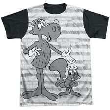 Rocky & Bullwinkle Main Characters Mens Sublimation Shirt