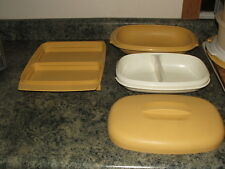Vintage (LOT OF 2) Tupperware Covered Serving Steam & Deviled Egg Storage Dish's