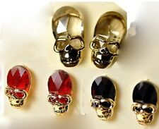 New Arrived Optional Crystal Gold Plated resin Ear Stud Skeleton Earring