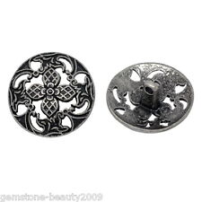 Wholesale HOT! Silver Tone Hollow Flower Sewing Metal Buttons 23mm