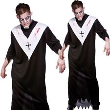 Mens Religious Costume Zombie Priest Vicar Father Adults Fancy Dress