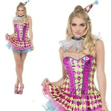 Harlequin Clown Costume Ladies Sexy Circus Character Fancy Dress Outfit