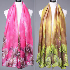 Women's Fashion Scarf Long Echarpe Leaves Printed Stole Shawl Wrap Charm