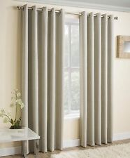VOGUE THERMAL BLOCK OUT LINED EYELET CURTAINS READY MADE RINGTOP PAIRS CREAM