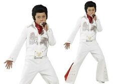 Boys Elvis Outfit Licensed 50s Rock Star Celebrity Kids Fancy Dress Costume