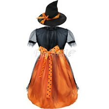 Kids Girls Witch Fairy Halloween Costume Outfits Party Fancy Dress Up Clothes