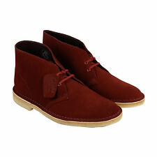 Clarks Desert Boot Mens Brown Suede Casual Dress Lace Up Boots Shoes