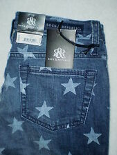 Rock & Republic Hamburg Cropped Capri Starlight Blue Denim Jeans Size 2 New $72