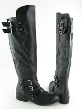 New Dolce Vita Landrie Black 4 Buckle Over Knee Boots Women's RTL $119