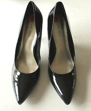 NEW Nine West Womens Black Patent Faux Leather Pumps Pointy Shoes High Heels 9.5
