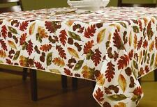 Fall Tablecloth Abundance of Leaves Pattern 60 x 102 Rectangle