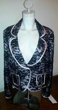 Joseph Ribkoff Black Lace over Taupe Jacket - 12 & 14 #75603 NWT $228 List