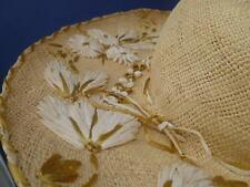 AMAZING Vintage Ladies Straw Hat! WOW! Must See! Derby Ready! Church!
