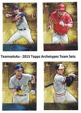 2015 Topps Archetypes Baseball Team Sets ** Pick Your Team Set **