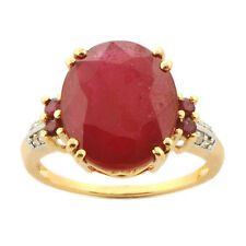Ruby 11.75 Carat Genuine Gemstone Diamond Ring In 14kt Yellow Gold Jewelry