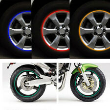 4 Colors Trendy 16 Pcs Rim Stripe Wheel Tape Stickers Motorcycle Car reflective