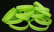 Lime Green Awareness Bracelets 50 Piece Lot Silicone Wristband Cancer Cause New