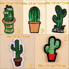 10pcs/set Cactus Embroidered Iron/Sew on Patches/Badge Applique Motif DIY Badges
