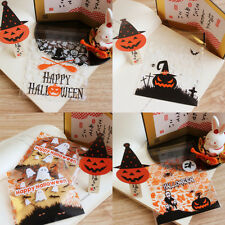 2017 Trick Ghost Halloween Cello Cellophane Party Favour Sweet Biscuit Gift Bags