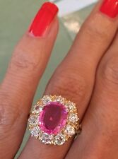 Incredible Pink Sapphire And Diamond Ring
